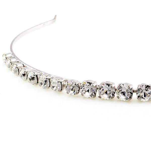 Diadema mireasa cristale Swarovski 8006 Crystal 1