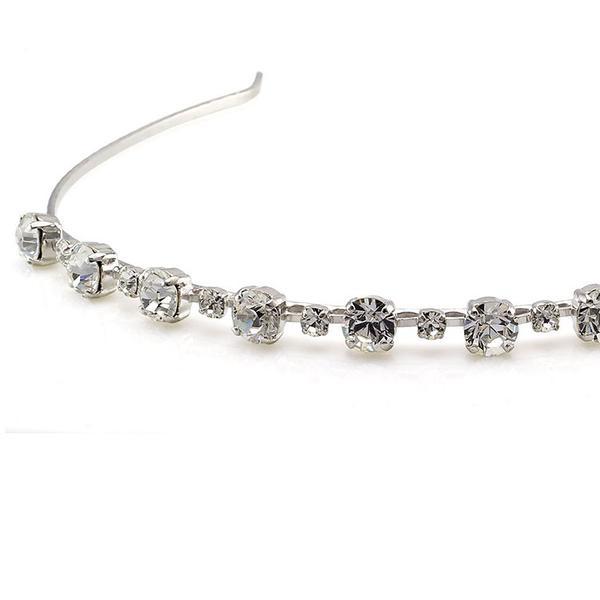 Diadema mireasa cristale Swarovski 8068 Crystal 1