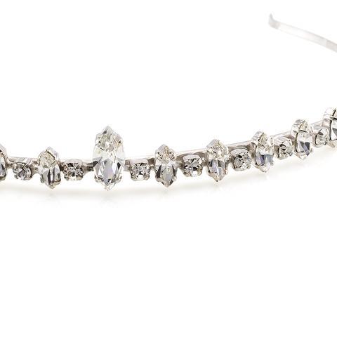 Diadema mireasa cristale Swarovski 8079 Crystal 1