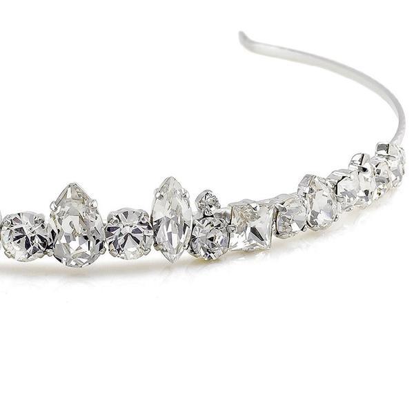 Diadema mireasa cristale Swarovski 8147 Crystal 1