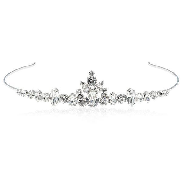 Diadema mireasa cristale Swarovski 8148 Crystal [0]