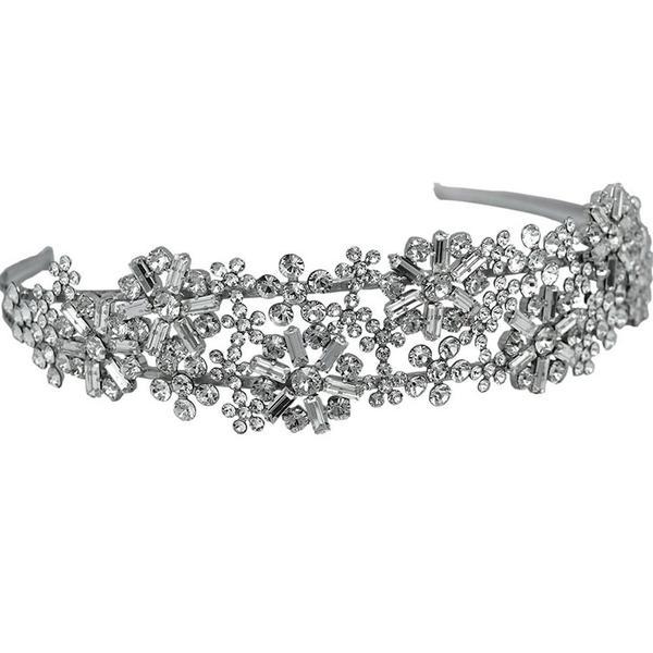 Diadema mireasa cristale Swarovski 8231 Crystal 0