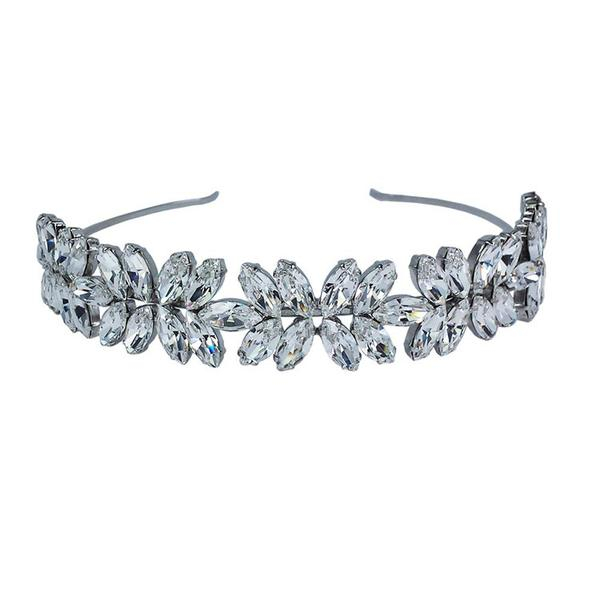Diadema mireasa cristale Swarovski 8260 Crystal 0