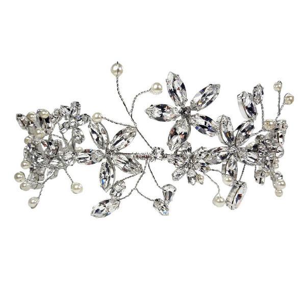 Diadema mireasa cristale Swarovski Cherry Flower Crystal 0