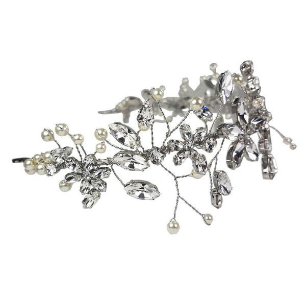 Diadema mireasa cristale Swarovski Cherry Flower Crystal 1