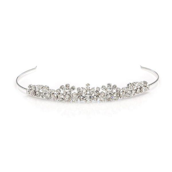 Diadema mireasa cristale Swarovski Daphne Crystal 0