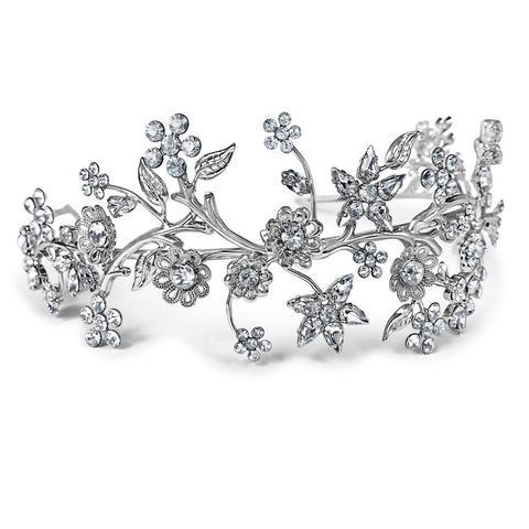 Diadema mireasa cristale Swarovski Primavera Crystal 0