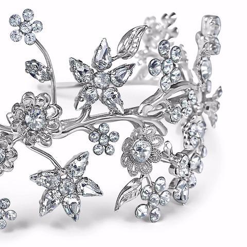 Diadema mireasa cristale Swarovski Primavera Crystal 1