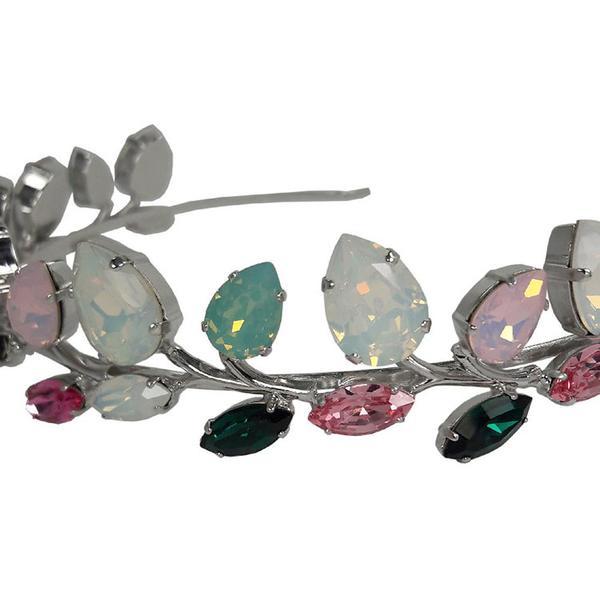 Diadema mireasa cristale Swarovski Rafaela Color 1