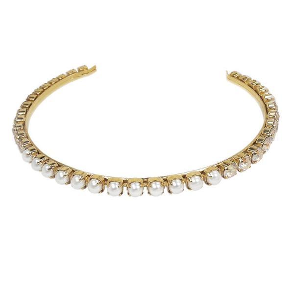 Diadema mireasa perle Swarovski 8006L Pearl &Golden Shadow G [0]