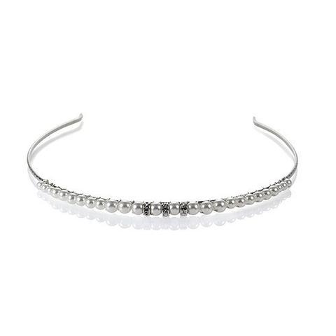 Diadema mireasa perle Swarovski 8204 White Pearl 0