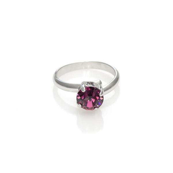 Inel cristale Swarovski 7014 Amethyst 0