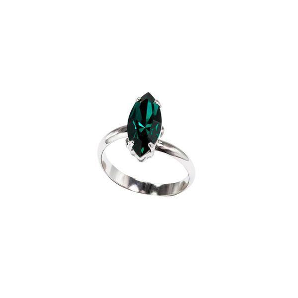 Inel cristale Swarovski 7024 Emerald 0