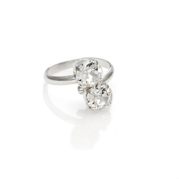 Inel cristale Swarovski 7028 Crystal [0]