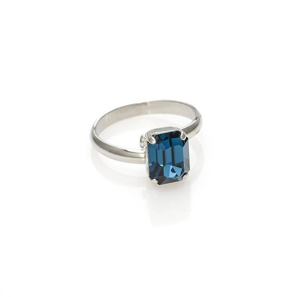 Inel cristale Swarovski 7045 Montana 0