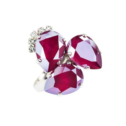 Inel cristale Swarovski Elisabeta Royal Dark Red 0