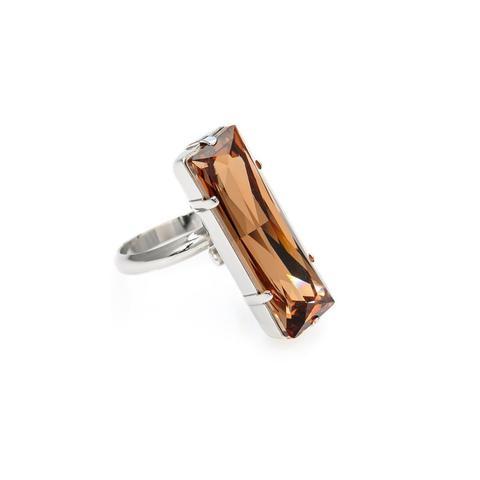 Inel cristale Swarovski Fancy Smoked Topaz 0
