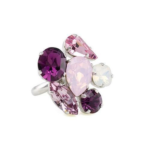 Inel cristale Swarovski Happy Colors 0