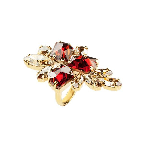 Inel cristale Swarovski Viktoria 7 Red Magma [0]