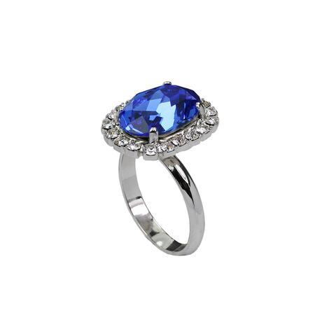 Inel cristale Swarovski Vivian 7 Saphire 1