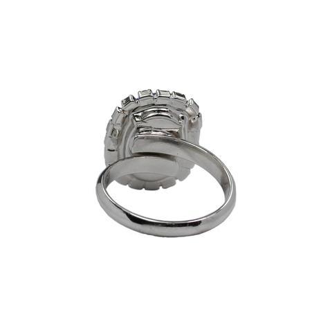 Inel cristale Swarovski Vivian 7 Saphire 2