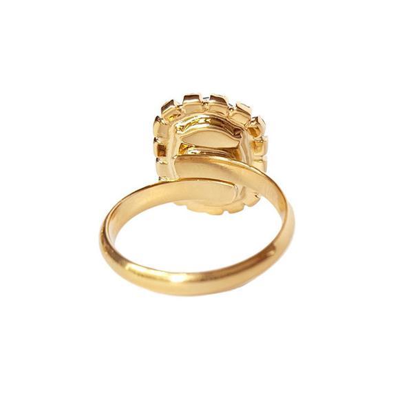 Inel cristale Swarovski Vivian Siam Golden 3