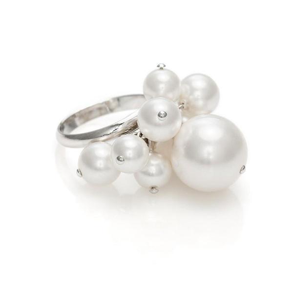 Inel perle Swarovski Dew Drops White Pearl [0]