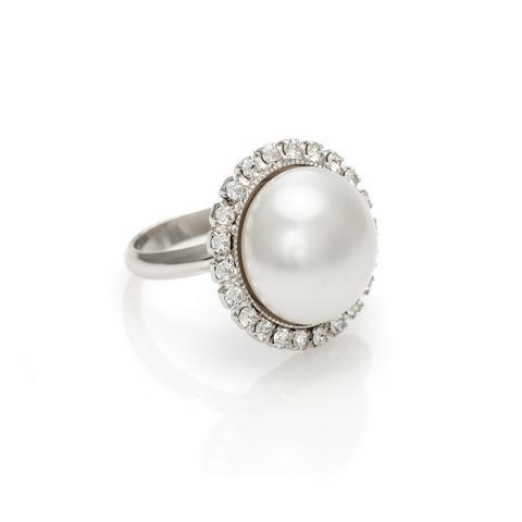 Inel perle Swarovski Dream White Pearl [0]