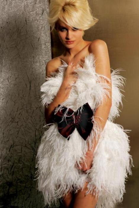 Rochie Jovani 155539 alba scurta de lux baby doll din fulgi 1