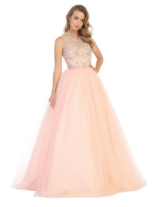 Rochie France Mode M137 roz lunga de seara princess 0