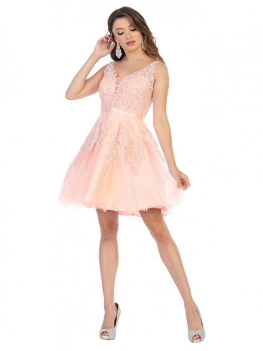 Rochie France Mode M1692 roz scurta de ocazie baby doll [0]