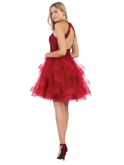 Rochie France Mode M1700 rosie scurta de ocazie baby doll 1