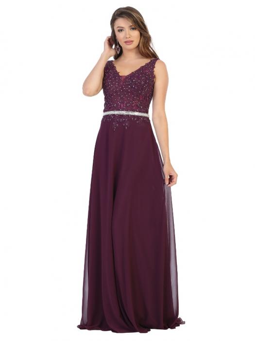 Rochie France Mode M1701 violet lunga de seara clos 0