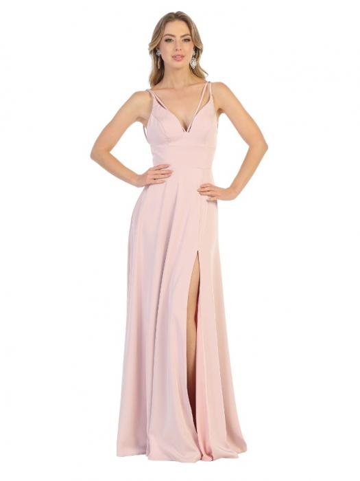 Rochie France Mode M1704 roz lunga de seara clos 0