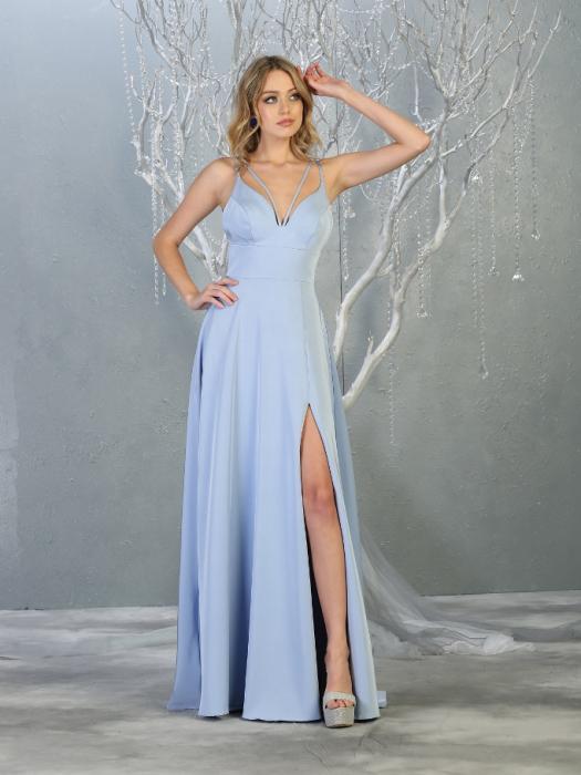 Rochie France Mode M1704 bleu lunga de seara clos 0