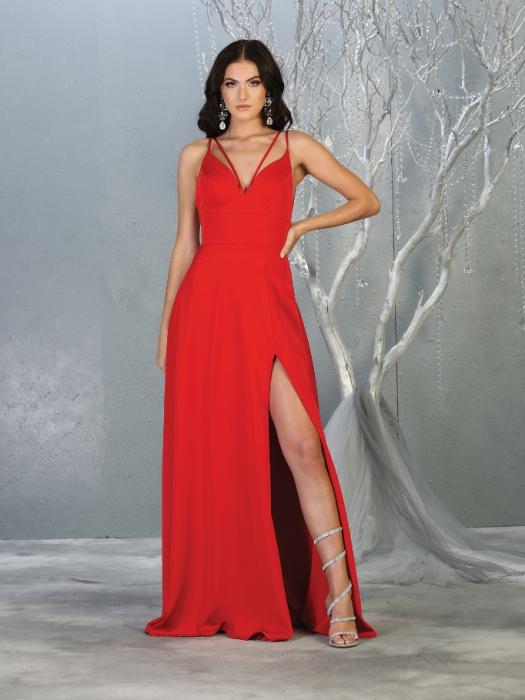 Rochie France Mode M1704 rosie lunga de seara clos 0