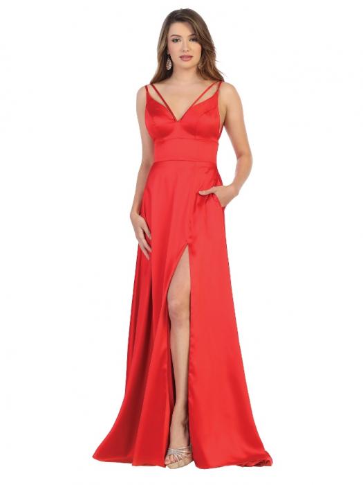 Rochie France Mode M1705 rosie lunga de seara clos 0