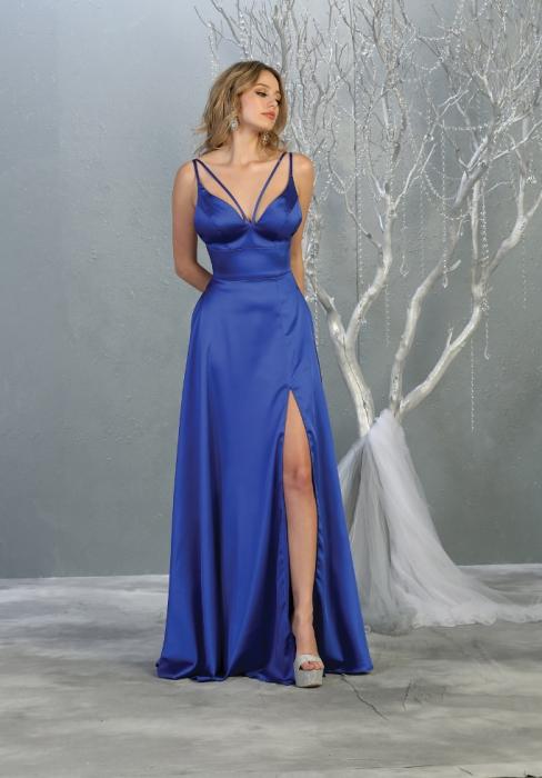 Rochie France Mode M1705 albastra lunga de seara clos [0]