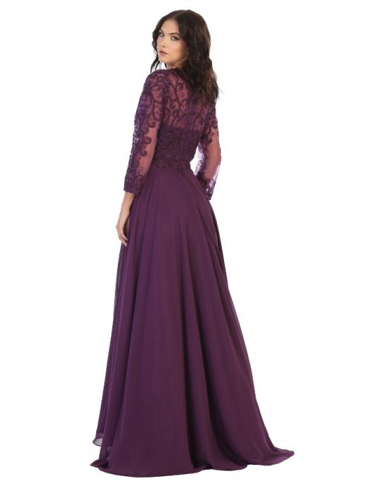 Rochie France Mode M1706 violet lunga de seara clos [1]