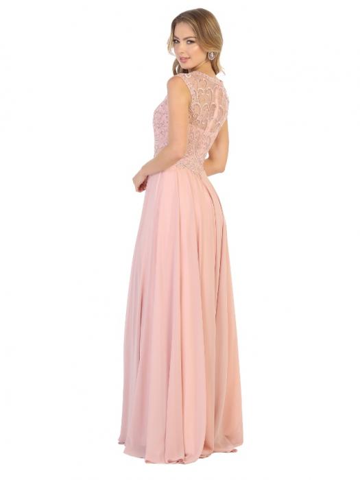 Rochie France Mode M1707 roz lunga de seara clos 1