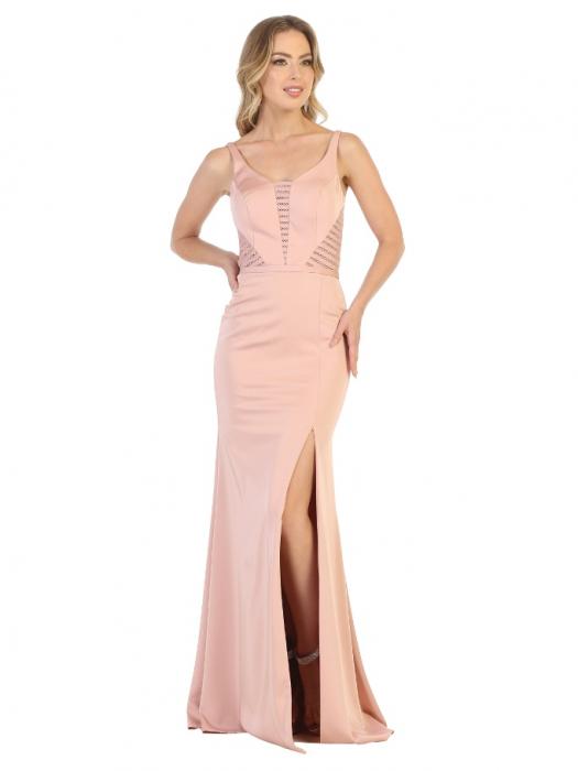 Rochie France Mode M1708 roz lunga de seara mulata 0