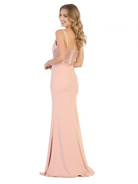 Rochie France Mode M1708 roz lunga de seara mulata 1