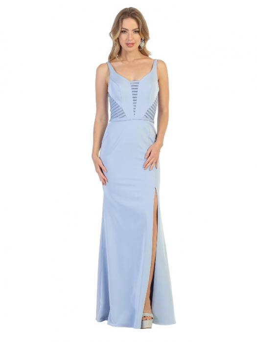 Rochie France Mode M1708 bleu lunga de seara mulata 0