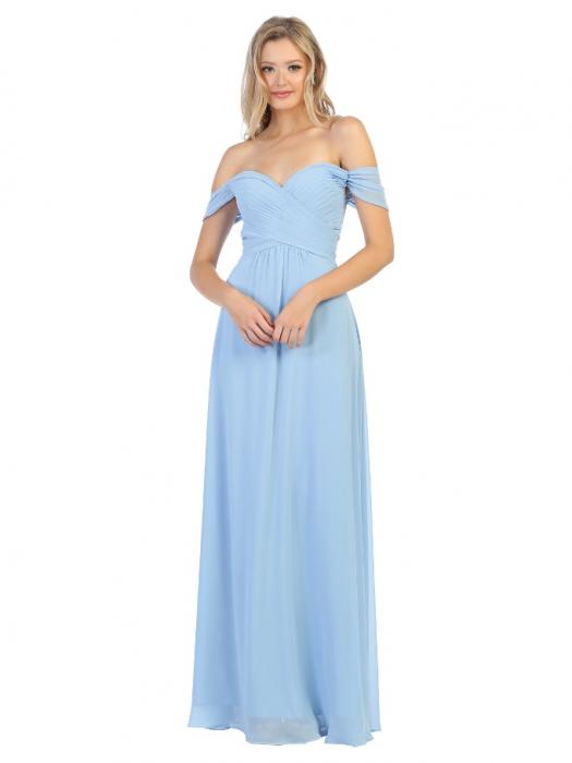 Rochie France Mode M1711 bleu lunga de seara clos 0