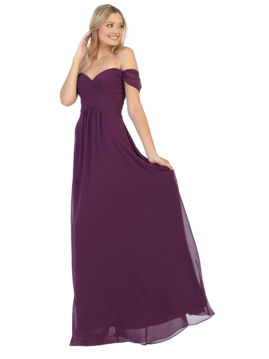 Rochie France Mode M1711 violet lunga de seara clos 0