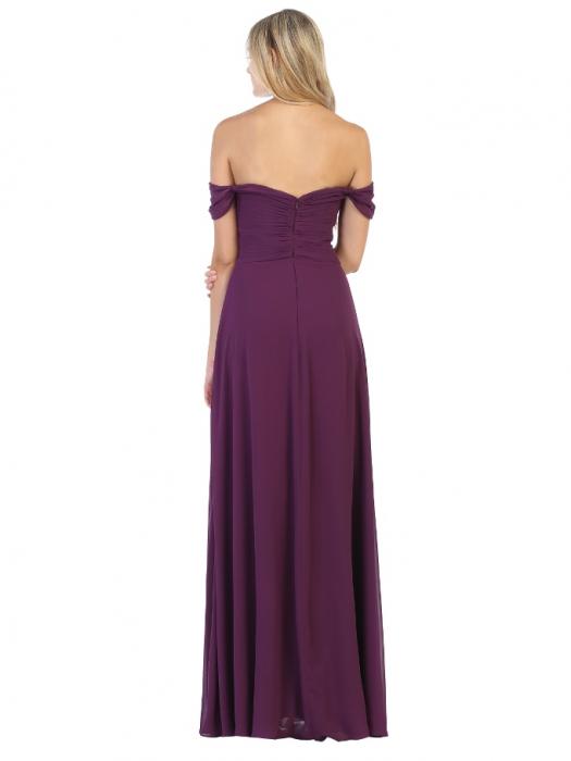 Rochie France Mode M1711 violet lunga de seara clos 1