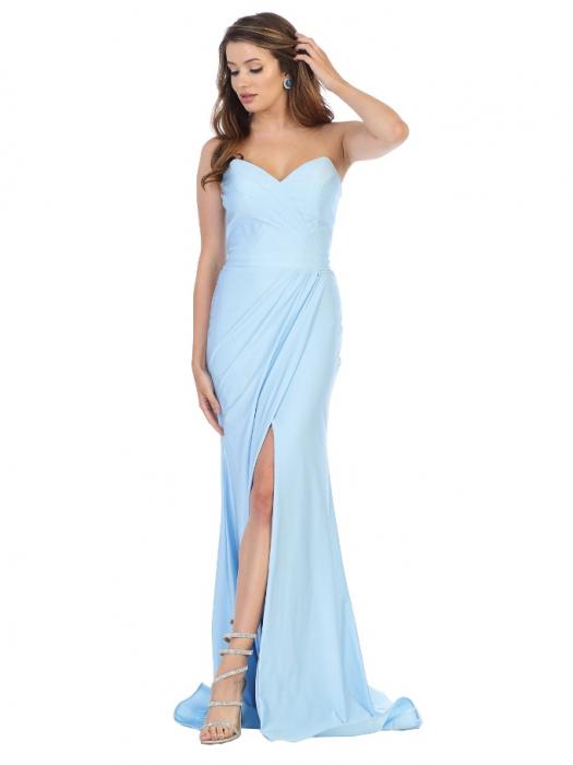 Rochie France Mode M1718 bleu lunga de seara mulata 0