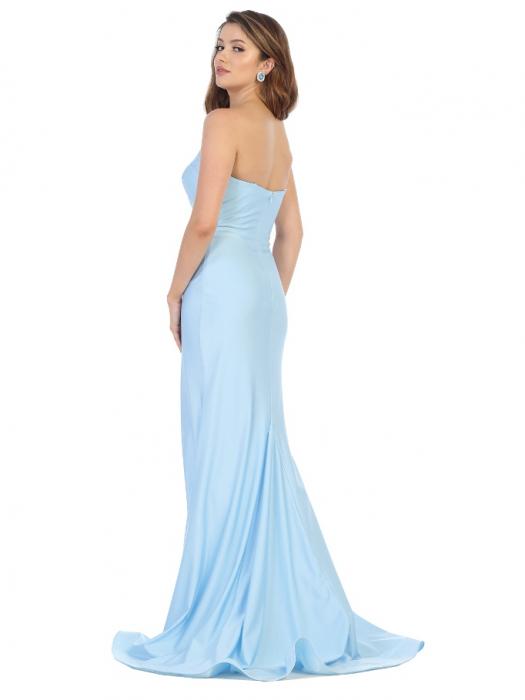 Rochie France Mode M1718 bleu lunga de seara mulata 1