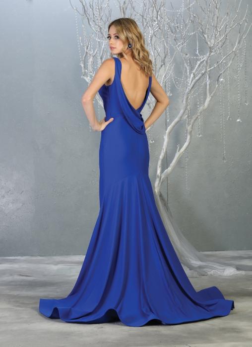 Rochie France Mode M1719 albastra lunga de seara sirena 1