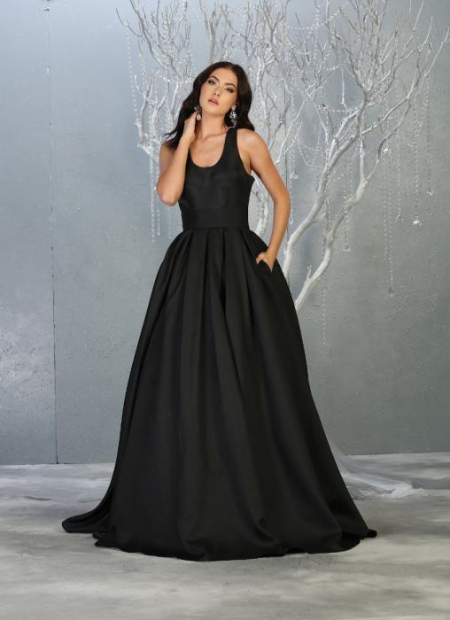 Rochie France Mode M1721 neagra lunga de seara princess [0]